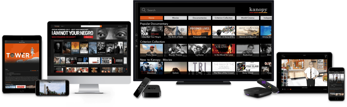 Kanopy apps for iOS, Android and Roku