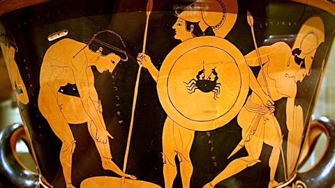 Greek Vase Paintingdeath Of Sarpedon Kanopy