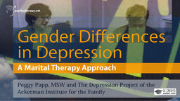 Gender Differences in Depression - A Marital Therapy Approach