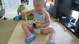 A Clothespin for Every Side – Math at 21 Months - A 21-month-old child creates two equal sets