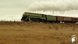 A Steam Train Passes