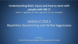 Series 2, Lecture 2: Part 1 Repetitive Questioning and Verbal Aggression